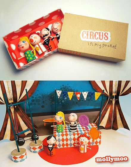 'Circus In My Pocket' craft and handmade toy created for the current issue of Anorak Magazine. All the step by step photos are there for you to repeat the fun in your house :)     http://mollymoo.ie/2012/09/new-craft-circus-in-my-pocket/ ... #kidscraft #craft #handmadetoy
