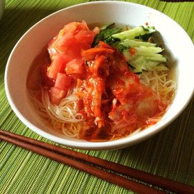 ぶっかけ韓国冷麺風そうめん by micakino [クックパッド] 簡単おいしいみんなのレシピが269万品