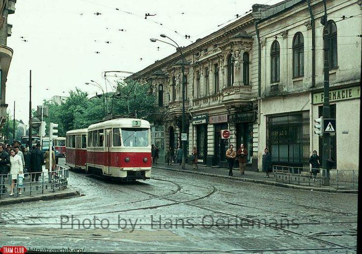 Strada Buzesti la intersectia cu Calea Grivitei, anii '70. Source : Hans Oerlemans
