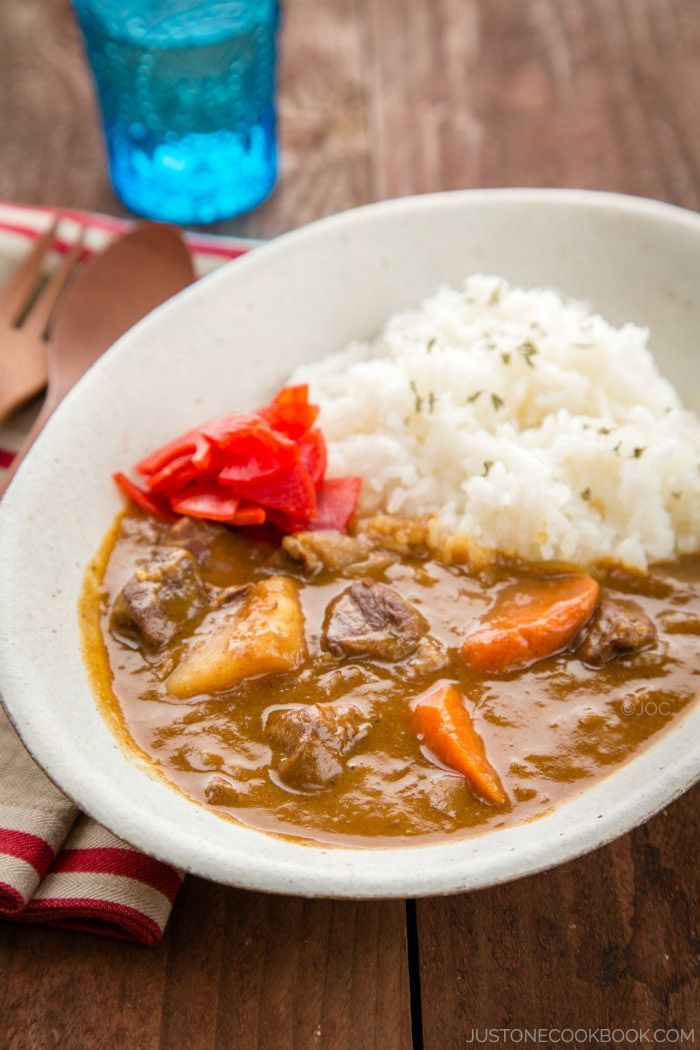 Japanese Beef Curry Easy Japanese Recipes At Justonecookbook Com Easy Japanese Recipes Curry Recipes Beef Curry Recipe