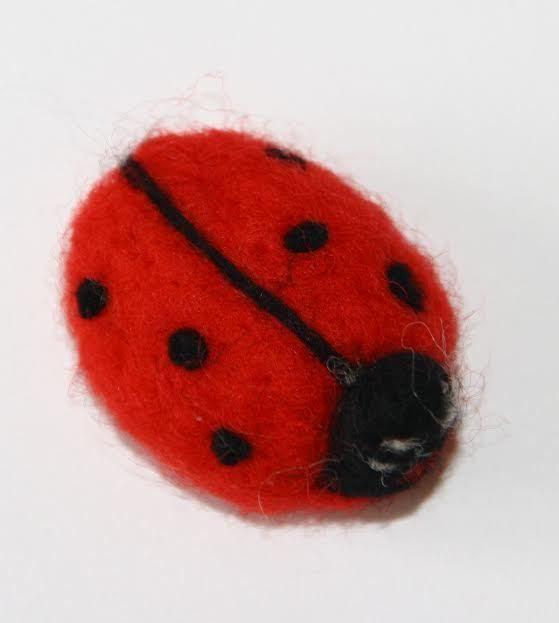 sweet Ladybird  needle felted miniature beautiful animal toys  handmade #1 #nutka_art #AllOccasion