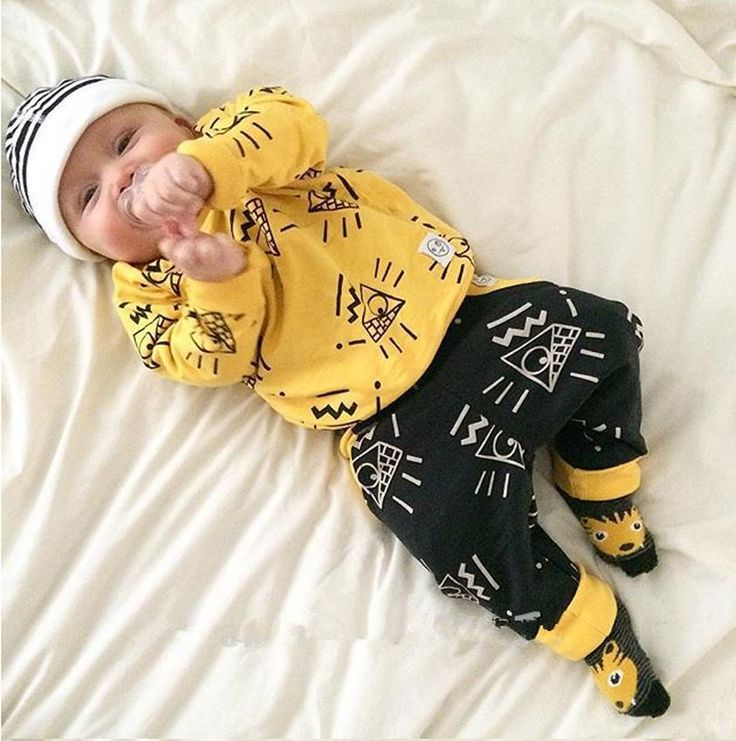 New Arrive kids clothes Fit spring autumn brand baby boy clothes yellow colors 2pcs tracksuit clothes