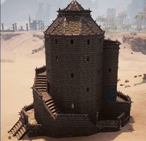 Ever Wonder How To Make Geometrically Correct Round Towers With Winding Spiral Stairs Cases Ever Try And Become Totally Frust Conan Exiles Conan Fantasy House