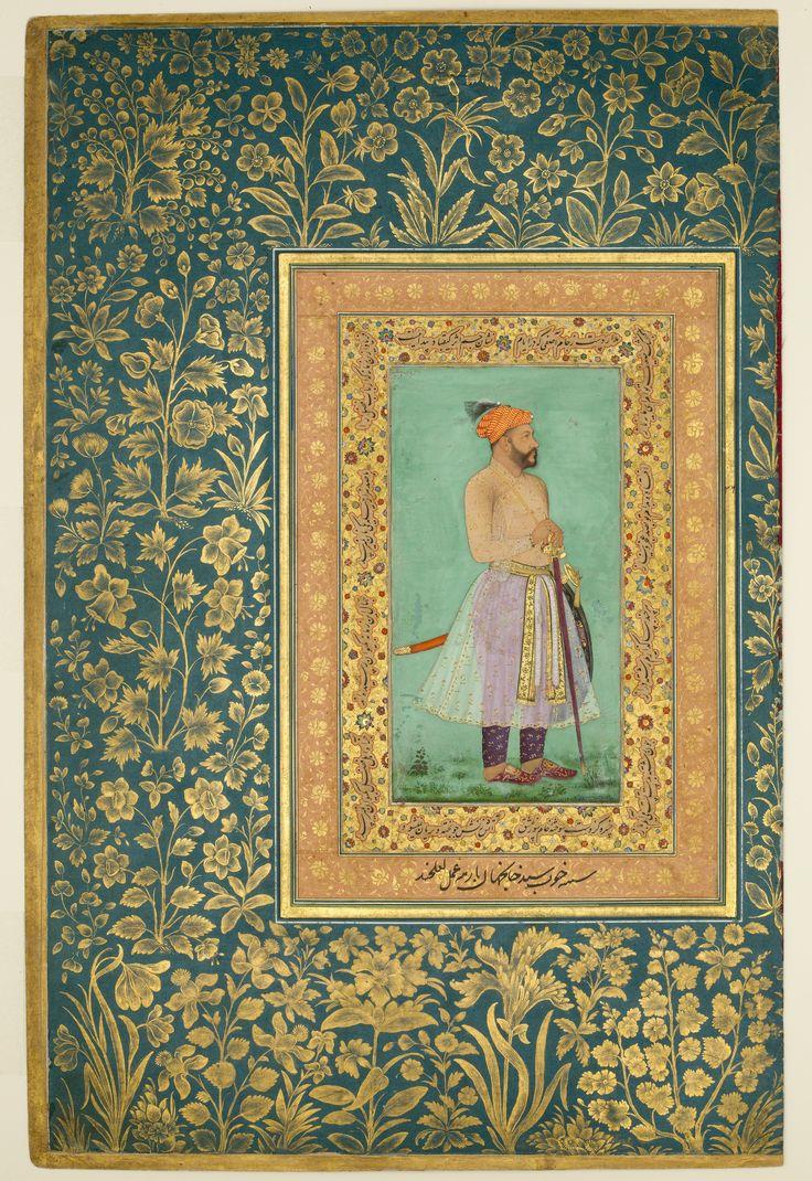 "Painting by Lalchand | ""Portrait of Sayyid Abu'l Muzaffar Khan, Khan Jahan Barha"", Folio from the Shah Jahan Album | Islamic | The Met"