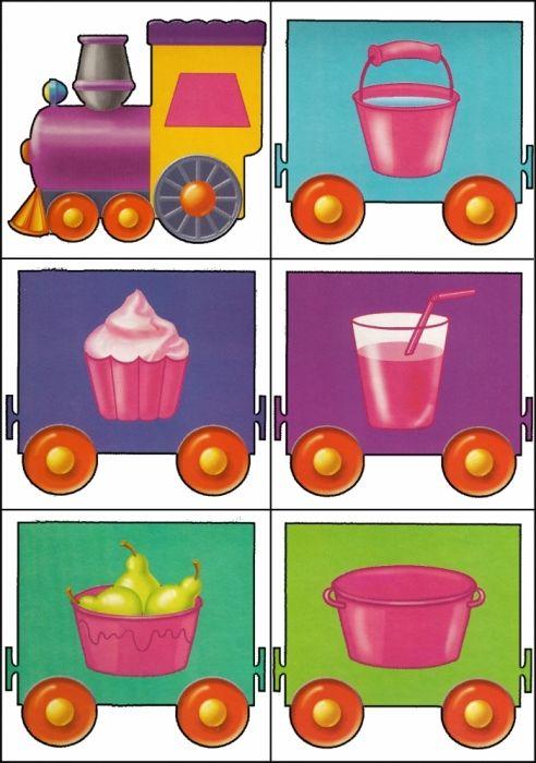 * Kleuren-vormen trein! 12-12