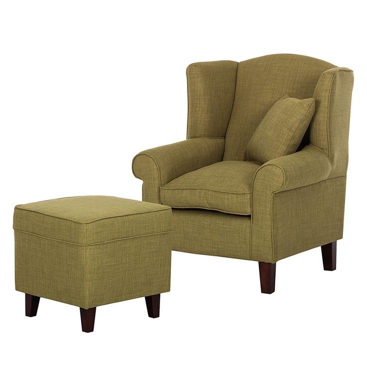 Wonderful Sessel Colmar   Webstoff Olivgrün