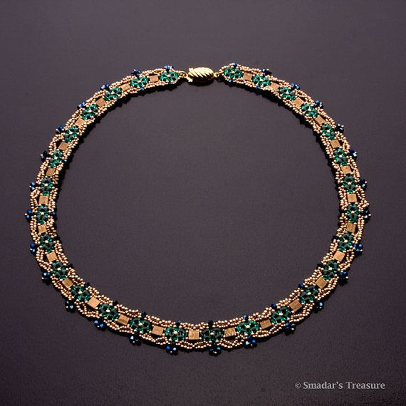Majestic Beaded Necklace with Swarovski by SmadarsTreasure on Etsy