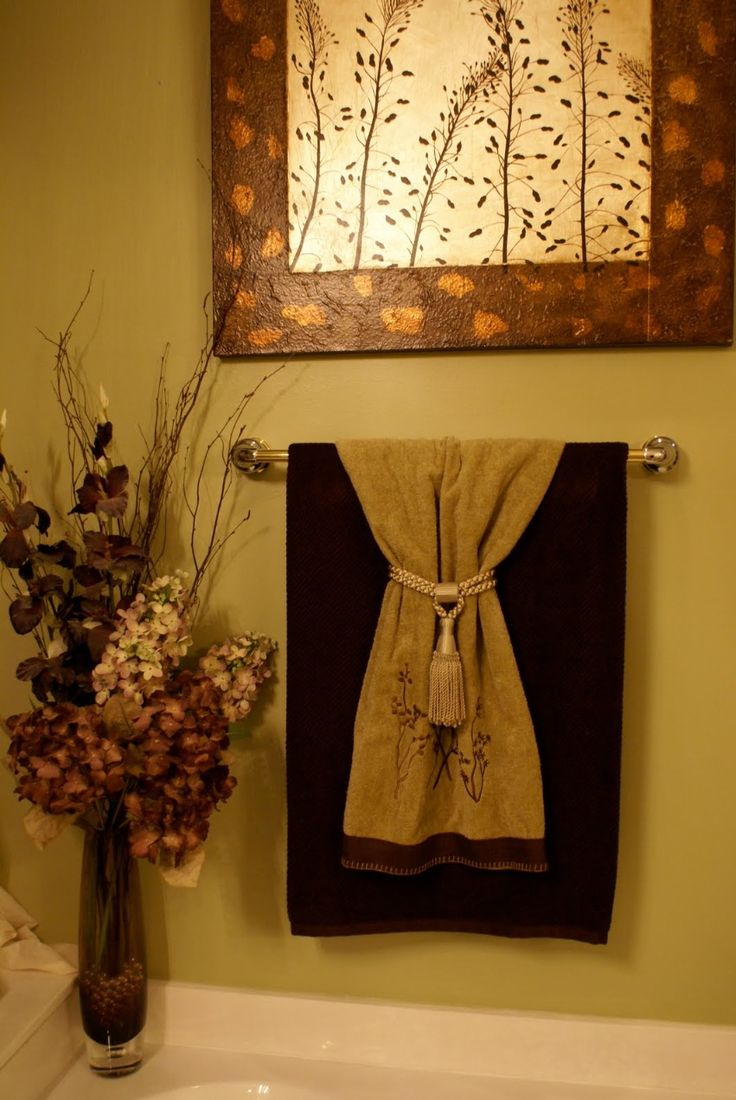 decorative towels 1st level bathroom idea pinterest