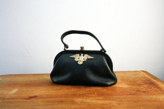 vintage 60s Roger Van S. Navy Blue Handbag by littleveggievintage on Etsy, $48.00