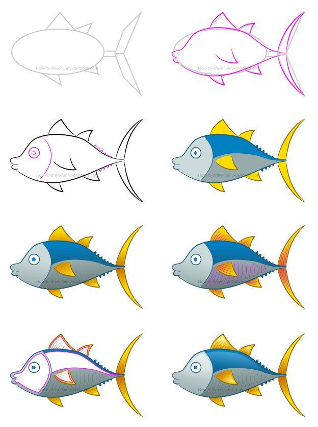 No need to go fishing to catch the perfect creature! This adorable cartoon tuna is all you need to learn how to draw a beautiful animal! #howtodraw #cartoontuna #howtodrawatuna #drawinglessons
