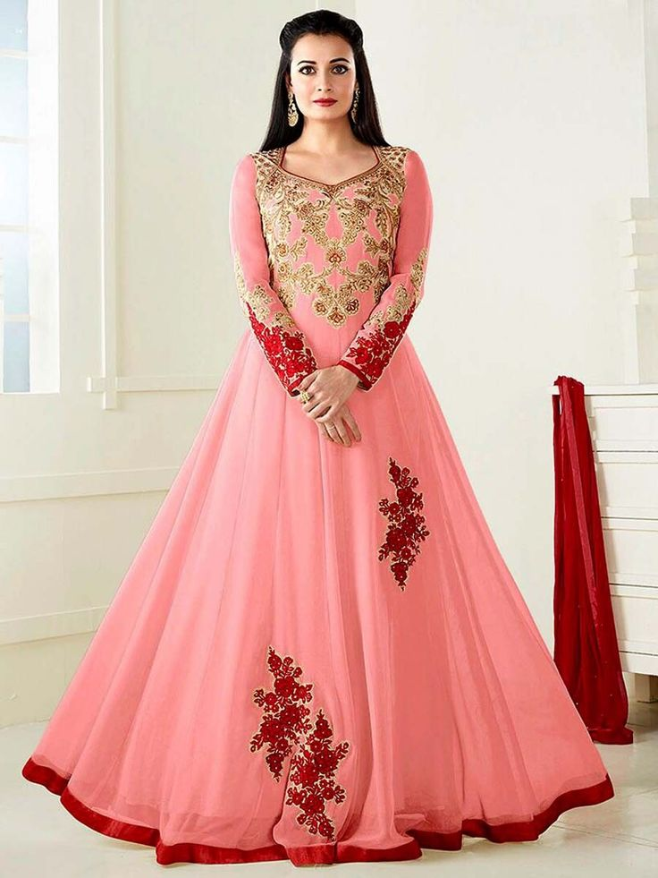 Eye-catching outfit will add a regal touch to your personality. Item Code: SLANB11902D Shop more:  http://www.bharatplaza.com/women/salwar-kameez.html