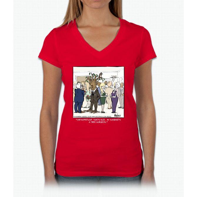 Tree Surgeon Womens V-Neck T-Shirt