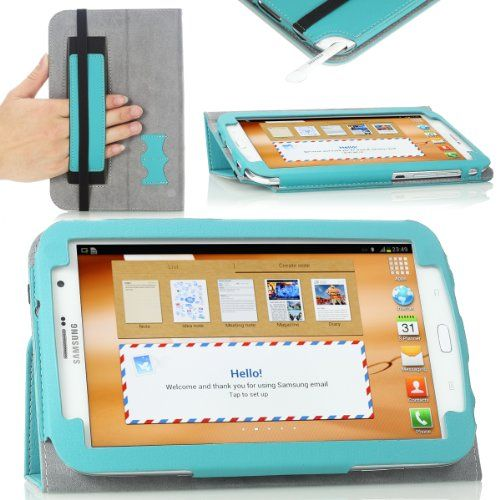 MoKo(TM) Slim Cover Case for Samsung Galaxy Note 8.0 inch GT - N5100 / N5110 Android Tablet, Light BLUE (with Auto Wake/Sleep Function, and Integrated Hand Strap) MoKo http://www.amazon.co.uk/dp/B00BTZGBTY/ref=cm_sw_r_pi_dp_dLRYub01JX7HC