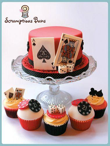 Adult Casino Night theme - Cute cake idea! - http://thevaultfrisco.com