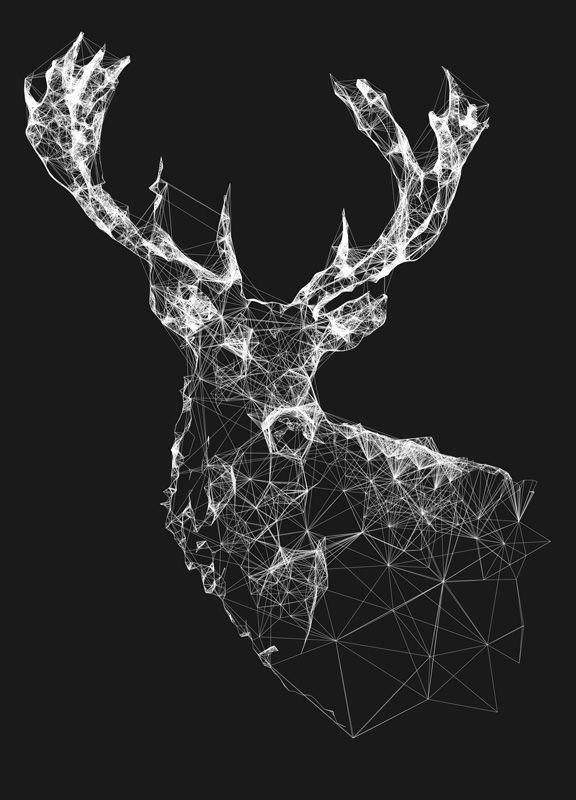 Jordan Rogers | Fractal fauna and flora Illustration - Deer