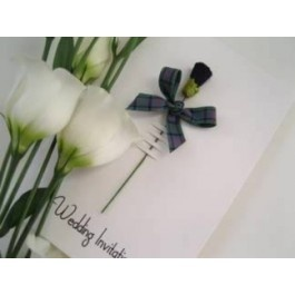 Handmade, Scottish themed Wedding Invites ......