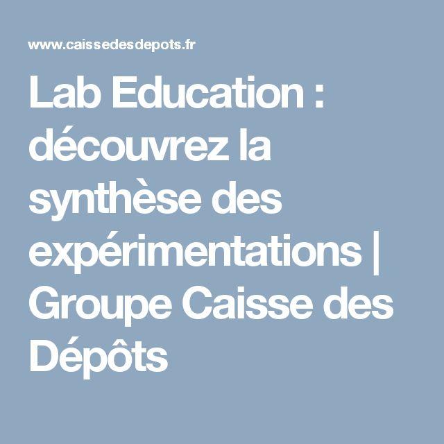 Lab Education : découvrez la synthèse des expérimentations   Groupe Caisse des Dépôts