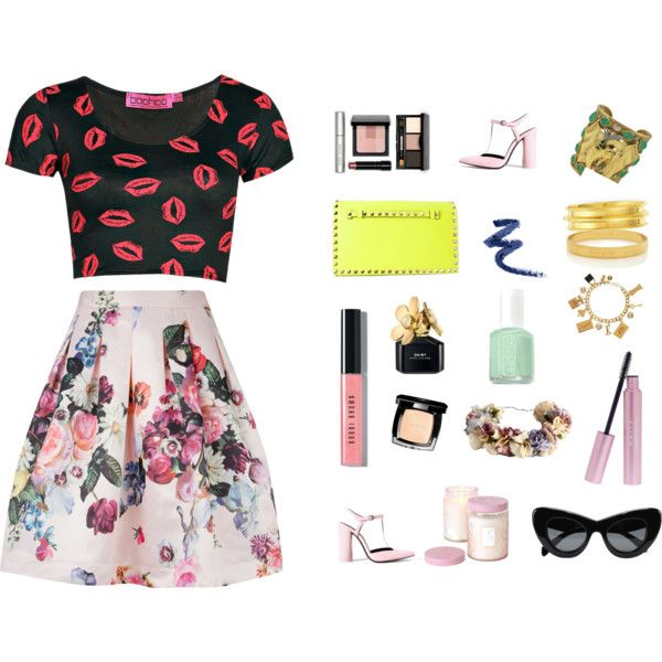 """floral mood"" by clarahsu on Polyvore"
