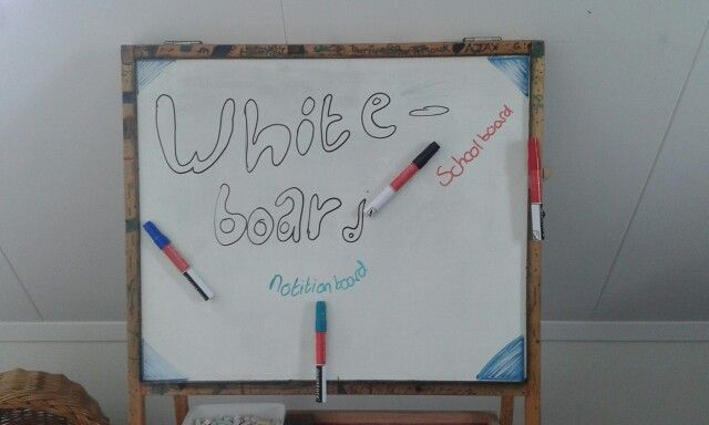 Whiteboard om te spelen of voor notities