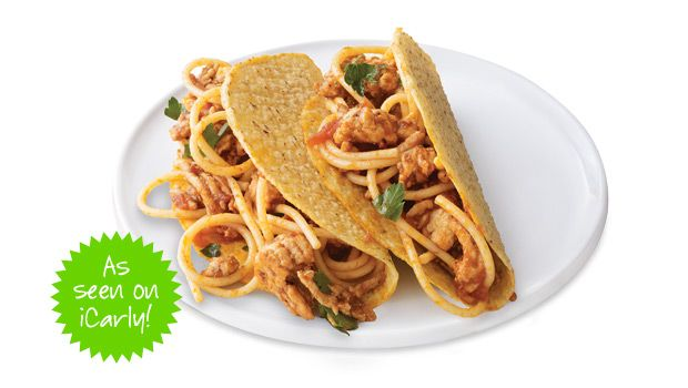 I'm actually going to try this..but probably will use lean beef instead?? Heard they were really good......: Fish Tacos, Meals Kids, Spaghetti Tacos, 10 Meals, 10 Delish, Delish Kids, Famous Spaghetti, Tacos Recipe, Kids Dinners