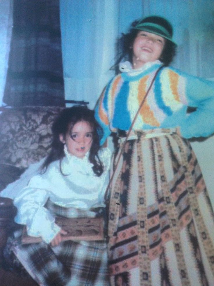 Me and my sister playing dress up - we put together such classy ensembles...imagining what it was like to be grown ups.