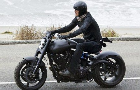 Sigh...David Beckham's newest bike, the F131 Hellcat Combat motorcycle.
