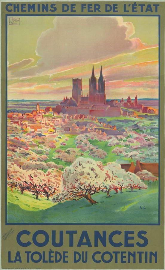 chemins de fer de l'état - Coutances, la Tloède du Cotentin - 1930's -