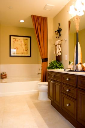 When You Have A Separate Tub And Shower Dress The Tub With Curtains Hung From The Ceiling No Ugly Shower Curtain Rod