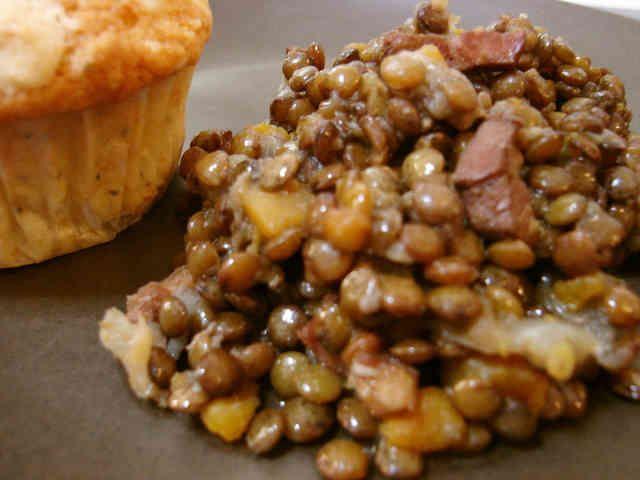 シンプルなレンズ豆の煮込みの画像