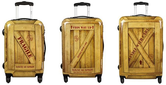 Express Wood Travel Trolley By Salvador Bachillerhttp://coolpile.com/gear-magazine/express-wood-travel-trolley-by-salvador-bachiller/  via CoolPile.com - $79 -  Gifts For Her, Gifts For Him, Polycarbonate, Suitcases, Travel