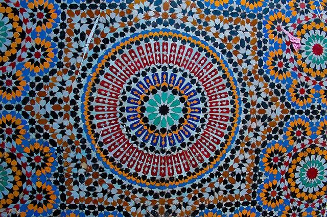 Mosaic Tile Work King Hassan Ii Mosque Casablanca