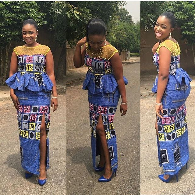 Skirt and Blouse Combinations : Simple Ankara Styles - DeZango Fashion Zone