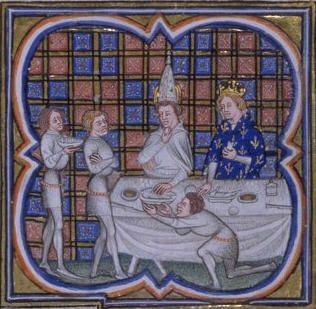 Louis II le Bègue recevant le pape Jean VIII