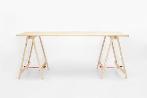 The Tressel Table - Avail in a variety of washes - 1800 x 800 x 700 - rope colours tbc