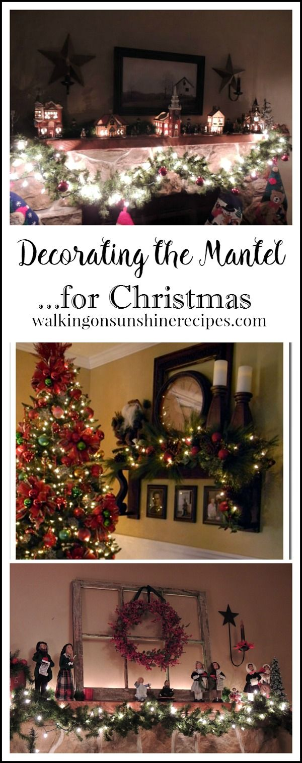 Christmas Decorations and Ideas for the Mantel