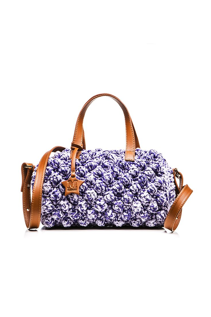 M-Missoni - LILAC RAFFIA TRUNK BAG