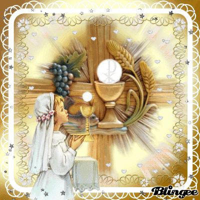 Vintage Card First Holy Communion The Eucharist