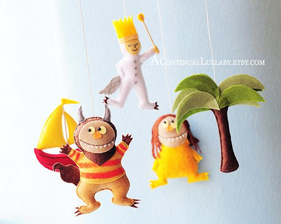 I don't care how old my children are, I want this!!!    Story MobileWhere the wild things are by AContinualLullaby on Etsy, $99.00