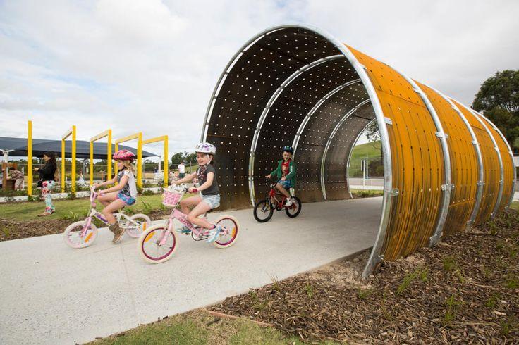 The kids bike track at Sydney Park