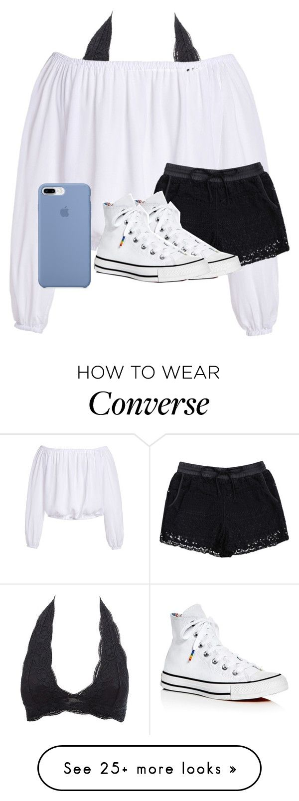 Untitled #3579 by laurenatria11 on Polyvore featuring Charlotte Russe and Converse