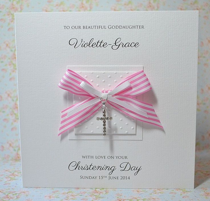 Personalised Christening Card Diamante Cross Baptism Naming day BOY or GIRL | eBay