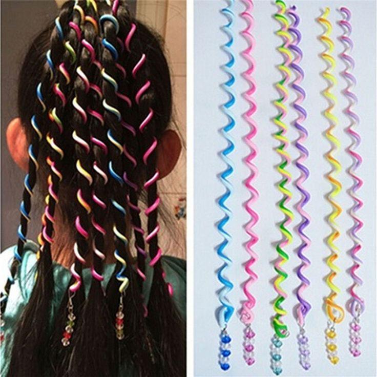 Lovely Cute 6Pcs Spiral Screw Hairpin Hair Curler Barrette for Girls Kids P&T #UnbrandedGeneric