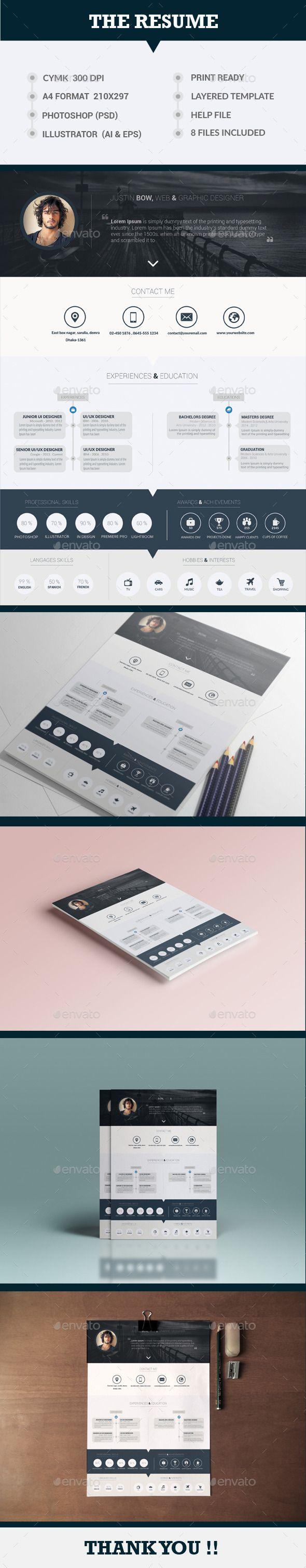 208 best CV images on Pinterest | Cv template, Resume and Resume design