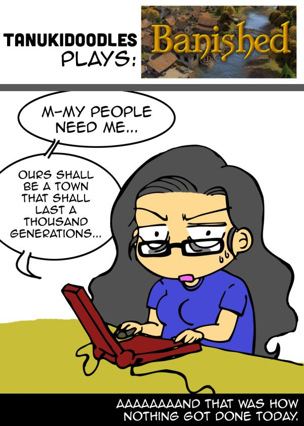 banished shining rock software steam video game comic reaction
