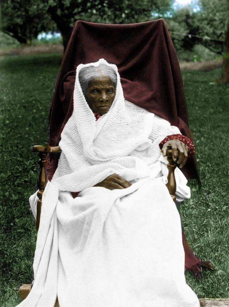 "exstendotongue: "" A real picture of Harriet Tubman in full color """