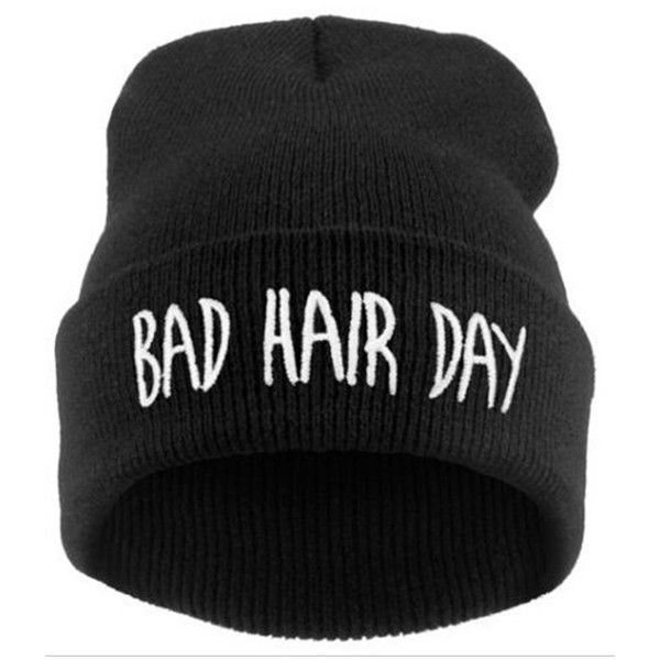 Bad Hair Day Beanie found on Polyvore