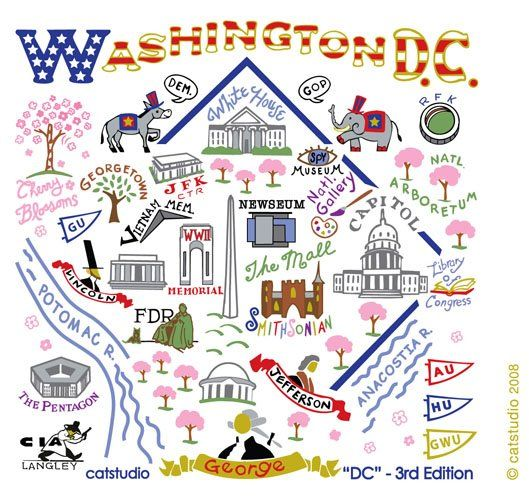 Washington DC travel map. Well this makes it easy.