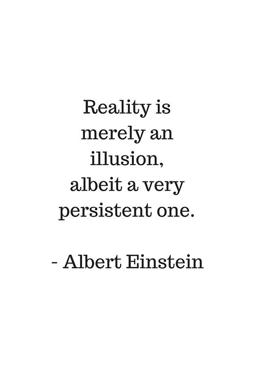 Reality Is Merely An Illusion Albert Einstein Quote Framed Art