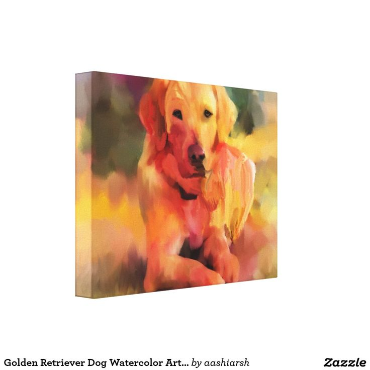 #GoldenRetriever #Dog #Watercolor Art #Canvas #doglovers #pets #animal #art