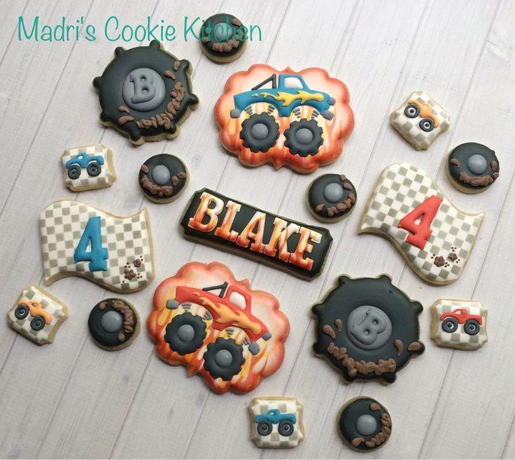 Monster truck cookies #madriscookiekitchen #decoratedcookies #monstertruck #grandrapids #grmichigan #grandrapidsmi